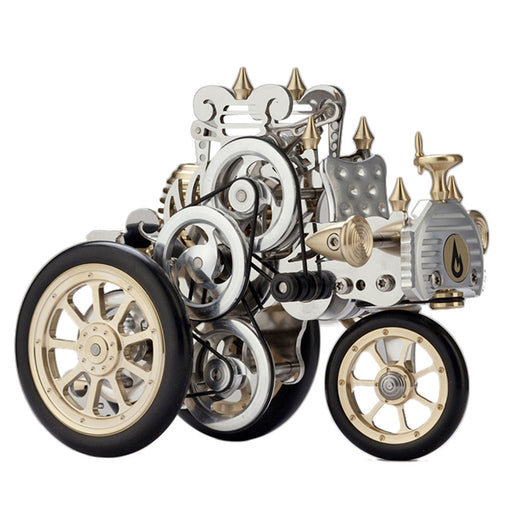 Stirling Engine Car Kit Metal Stirling Engine Retro Tri-wheel Vehicle Model Craft - 102Pcs - enginediy