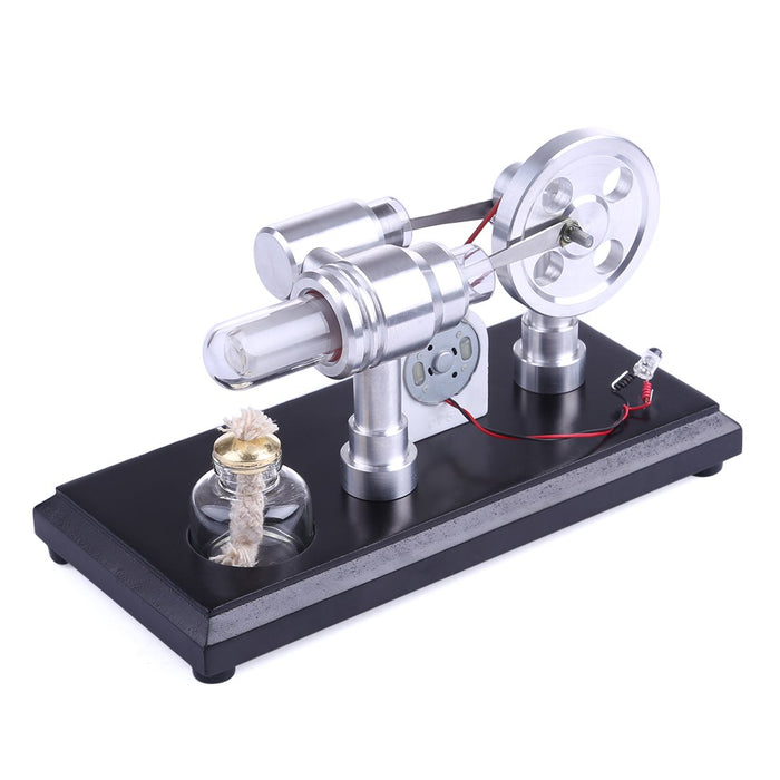 enginediy Stirling Engine with LED Stirling Engine Kit Double-Cylinder Stirling Engine Generator Electricity with Colorful LED Lights