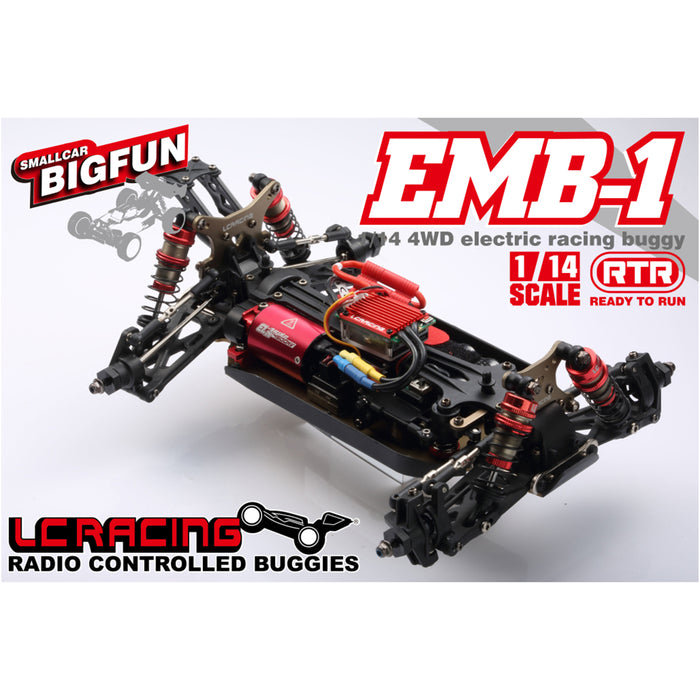 LC Racing EMB-1H 1:14 RC Car 50+KM/H 2.4G 4WD Brushless  Remote Control Racing Drifting Off Road Vehicle - RTR Version