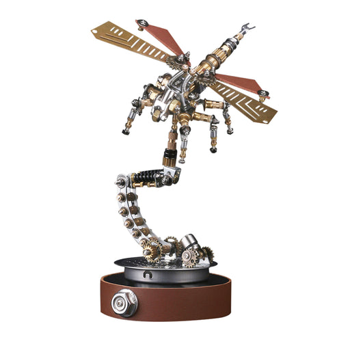 3D Puzzle Model Kit Mechanical Dragonfly with Holder - enginediy
