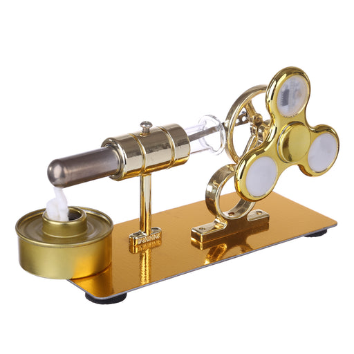Stirling Engine Model with Luminous Gyroscope Physical Experiment Sterling Engine Creative Gift