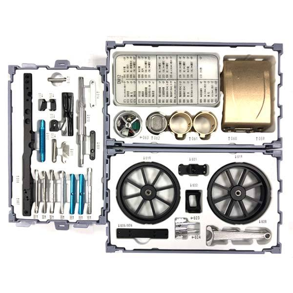 enginediy DIY Engine Car Engine Assembly Kit DM12B - Electric Car Engine Assembly Kit - Gift for Collection (249Pcs)