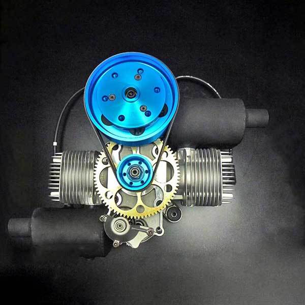enginediy RC Engine DLE Engines DLE 200CC Twin Cylinder Gas Engine for Paramotor