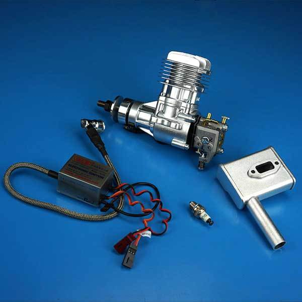 DLE Engines DLE 20CC Gas RC Aircraft Engine for RC Plane with Electronic Ignition and Muffler - enginediy