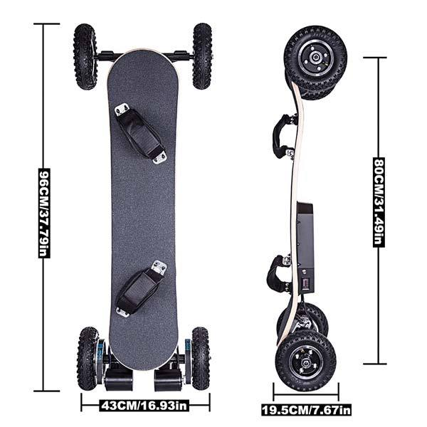 enginediy ELECTRIC SKATEBOARD Electric Skateboard 2x1650W ED-08 ALL-TERRAIN LONGBOARD Off-road Electric Skateboard