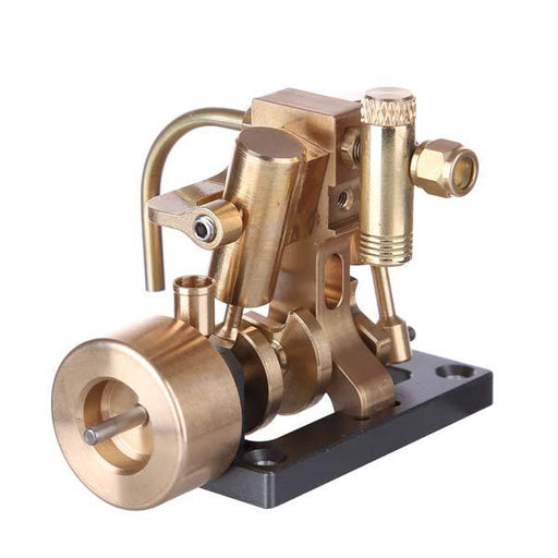enginediy Steam Engine Mini Inline 2 Cylinder Steam Engine Model for 40cm Boat Model Gift Collection - Enginediy