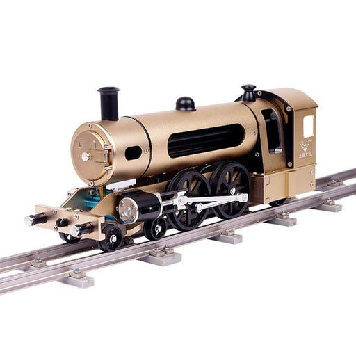 Steam Locomotive Train Assembly Engine Full Metal Hardest Build Kit with Track Gift Collection - 387Pcs - enginediy