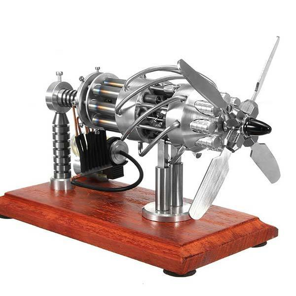 enginediy Multi-Cylinder Stirling Engine 16 Cylinder Stirling Engine Kit Gas Powered Creative Motor Stirling Engine Model Toy