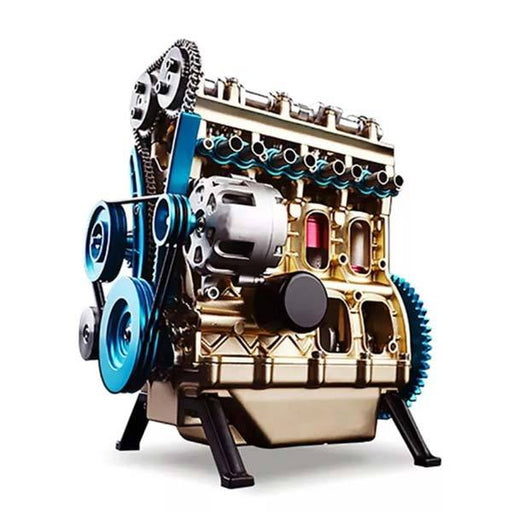 enginediy DIY Engine Miniature 4 Cylinder Engine Kit | V4 Car Engine Model