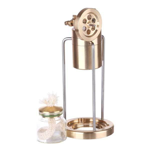 Mini Live Steam Engine Model Single Cylinder Swing Steam Engine with Boiler - enginediy