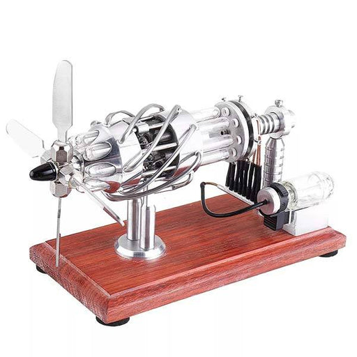 16 Cylinder Stirling Engine with Quartz Tube Collection Gift for Engineer-Upgrade - enginediy