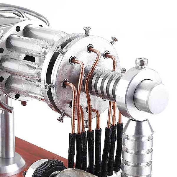 Enginediy 16 Cylinder Stirling Engine Model Gas Powered Engine
