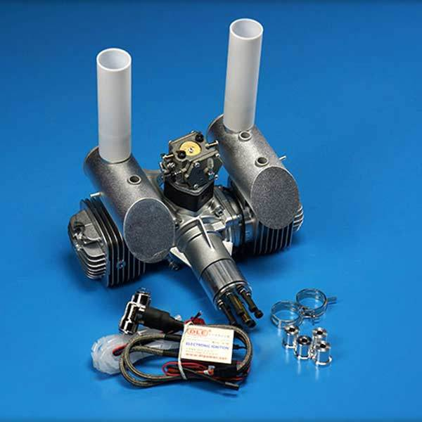 enginediy RC Engine DLE Engines DLE 120CC Twin Gas Engine with Electronic Ignition and Mufflers