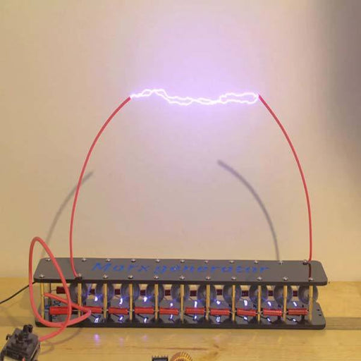 enginediy Engine Models Marx Generator Kit 10 Stage High Voltage DIY Lightning Experiment Educational Model - Enginediy