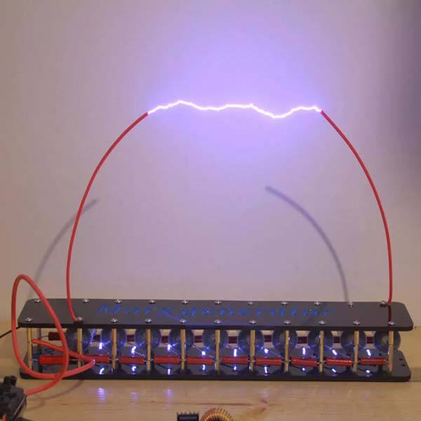 Marx Generator Kit 10 Stage High Voltage DIY Lightning Experiment Educational Model - Enginediy - enginediy