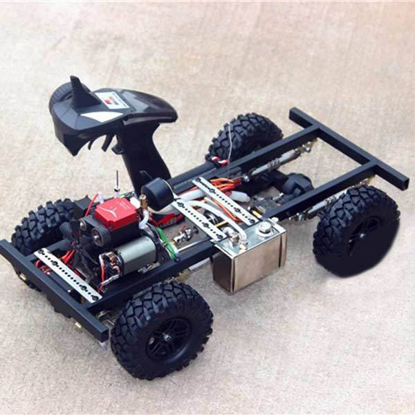 enginediy RC Engine 1/10 Scale RC Car Kits Set with Toyan Engine, Frame, Toyan Engine Parts, Remote Controller