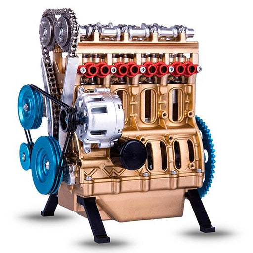V4 Car Engine Assembly Kit Full Metal 4 Cylinder Car Engine Building Kit DM13-L4-T - enginediy