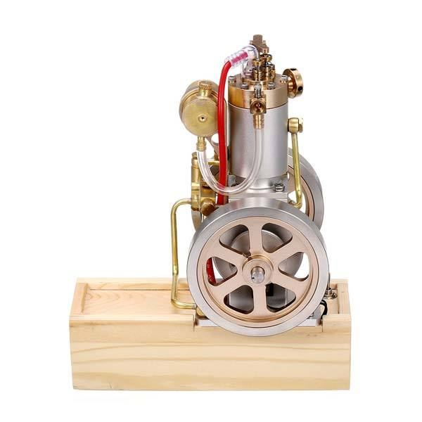 enginediy Engine Models Vertical Hit and Miss Engine Metal IC Engine with Hand Start Device Gift Collection - Enginediy