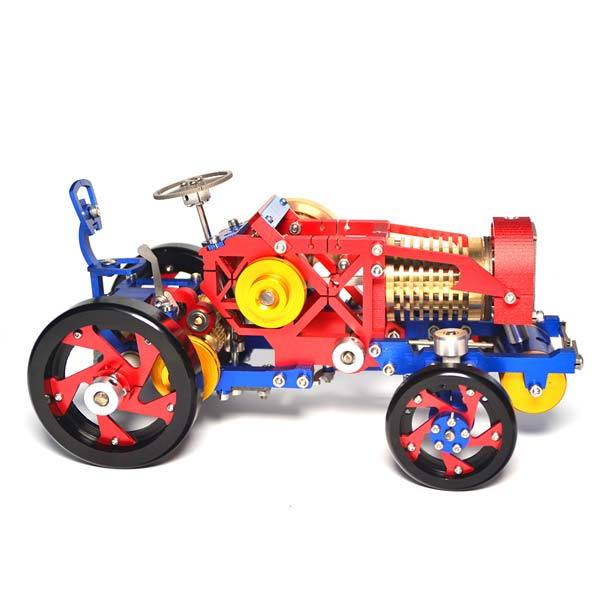 enginediy Vacuum Engine Flame Eater Tractor Vacuum Engine Metal Flame Licker Engine Model SH08 - Gift for Collection