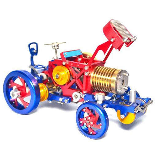 SaiHu SH-08 Flame Eater Tractor Vacuum Engine Metal Flame Licker Engine Model - Gift for Collection - enginediy