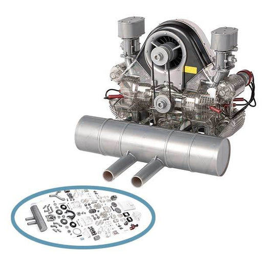 enginediy DIY Engine Flat 4 Cylinder Engine Assembly Kit - Build Your Own Engine - Collection Toy