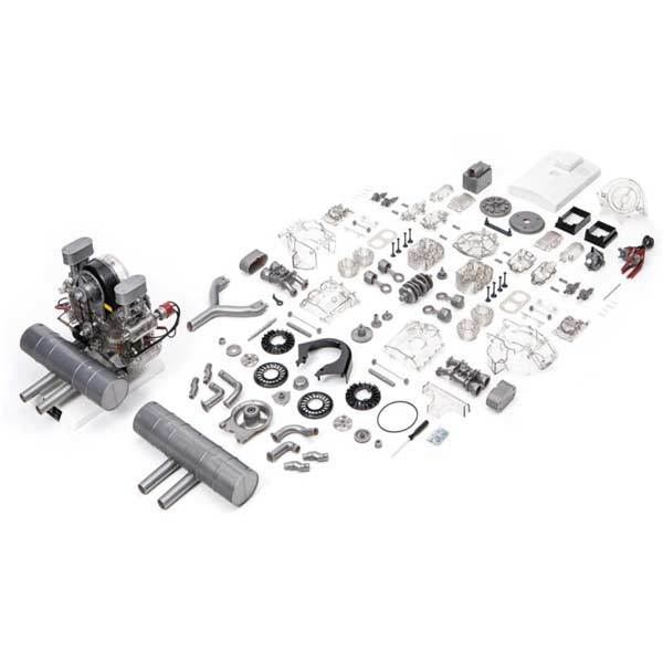 Flat 4 Cylinder Engine Assembly Kit - Build Your Own Engine - Collection Toy - enginediy