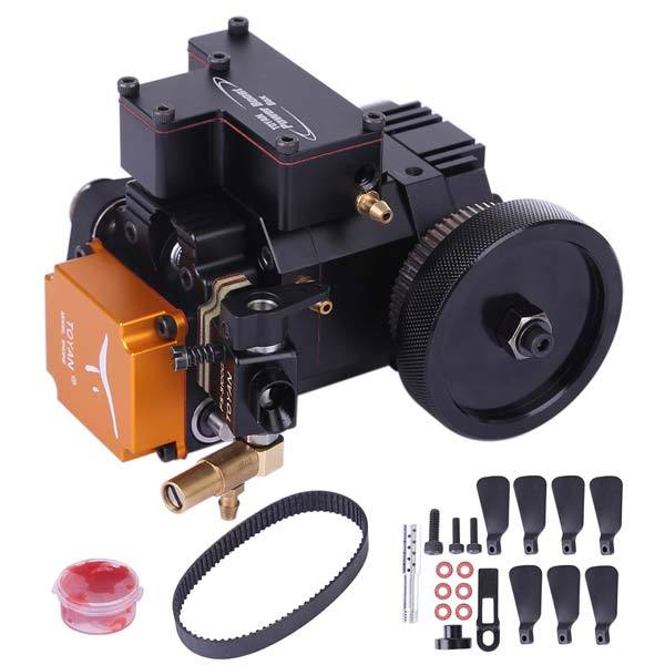 Toyan FS-S100G(w) 4 Stroke RC Engine Water Cooled Four Stroke Gasoline Engine Kit for RC Car Boat Plane - enginediy
