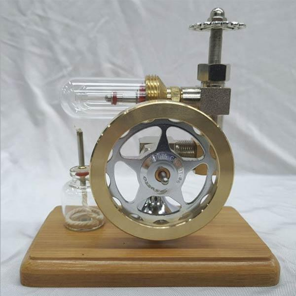 enginediy Single Cylinder Stirling Engine Free Piston Stirling Engine with Speed Adjustable Stem Toy Gift for Children Adults