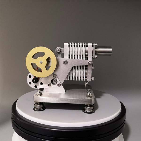 enginediy Single Cylinder Stirling Engine Full Metal Stirling Engine Generator Model Stem Engine Educational Toy
