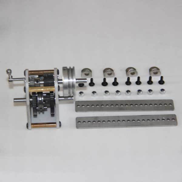 Gearbox with Wheel + Rack + Screw Modify Kit for Toyan Engine 1:10 Scale RC Car Engine - enginediy
