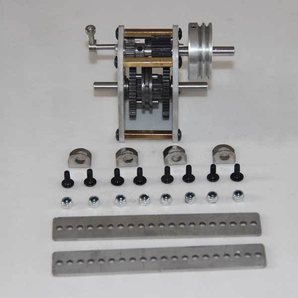 enginediy Gearbox with Wheel + Rack + Screw Modify Kit for Toyan Engine 1:10 Scale RC Car Engine