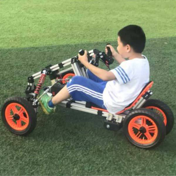 enginediy ELECTRIC SKATEBOARD Go Kart Kit 10 in 1 Racing Electric Go Kart Trike Bike with Multi-mode for Kids Parents Fun