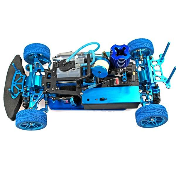 enginediy RC Car HSP Monster Truck 94122 Chassis Frame Kit Set with Engine and Remote Control - Building Kit Version