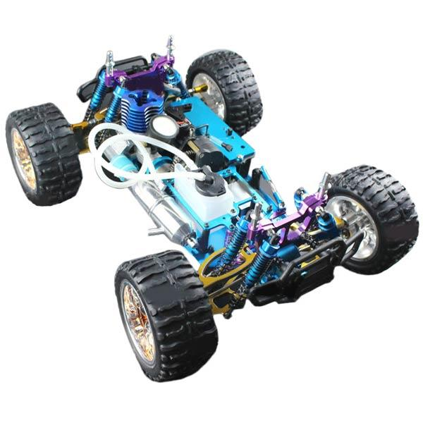 enginediy RC Car HSP Monster Truck 94188 Chassis Frame with Engine and Remote Control - Building Kit Version