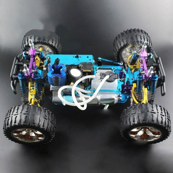 enginediy RC Car HSP Monster Truck 94188 Chassis Frame with Engine and GT2B Remote Control - Building Kit Version