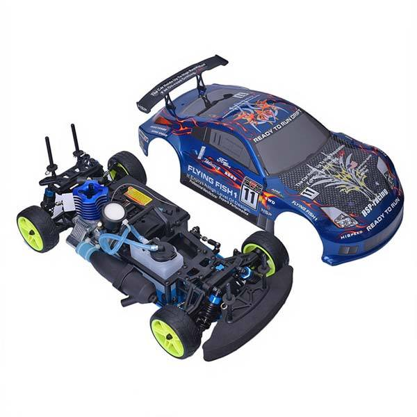 enginediy RC Car HSP 94122 RC Car 1/10 Scale 4WD Nitro Gas Powered Off-Road Buggy Truck Vehicle