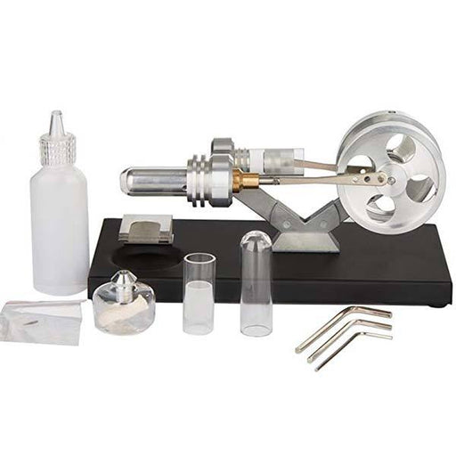Hot Air Stirling Engine External Combustion Engine Motor Model Education Toy Electricity Power - Enginediy - enginediy