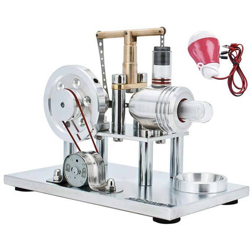 enginediy Stirling Engine with LED Hot Air Stirling Engine Kit Electricity Generator with Colorful LED and Bulb - Enginediy