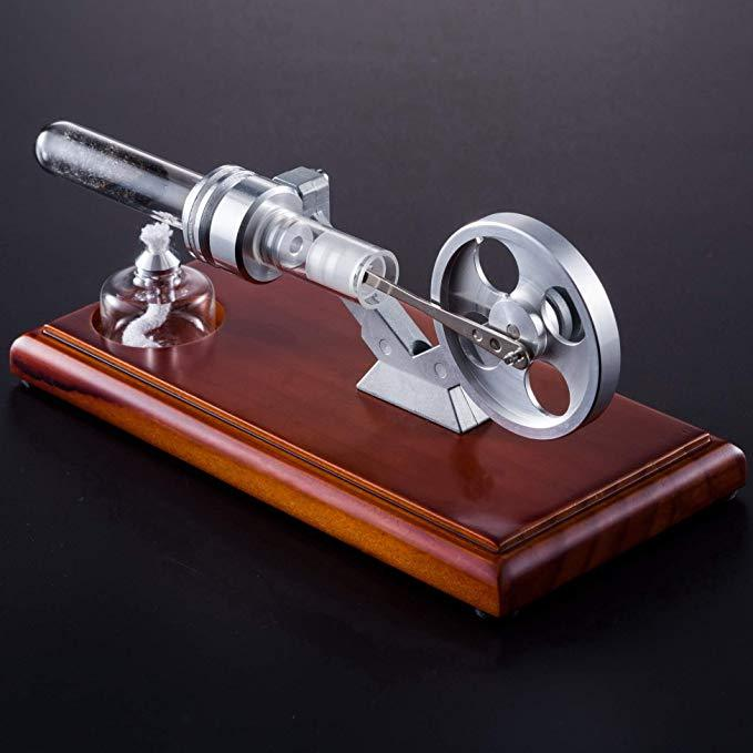 enginediy Single Cylinder Stirling Engine Hot Air Stirling Engine Model Thermoacoustic Engine Education Toy Electricity Power RS-01 - Enginediy