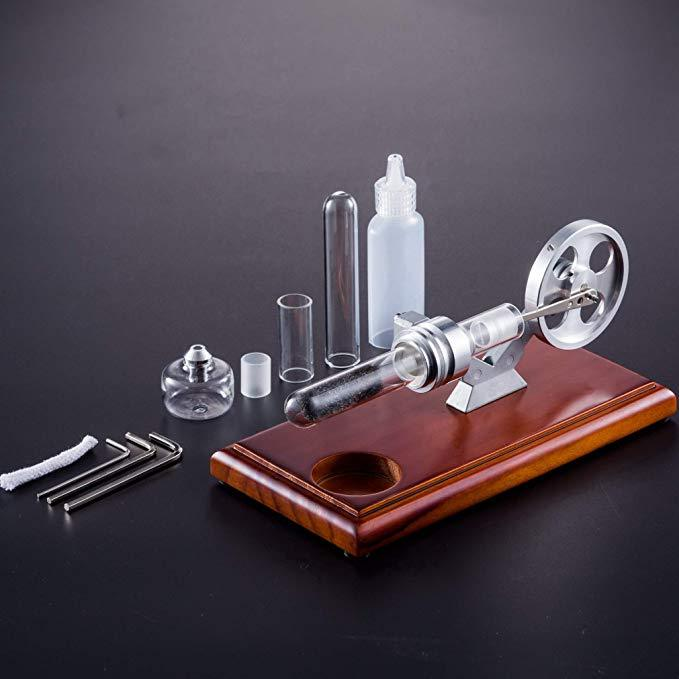 Hot Air Stirling Engine Model Thermoacoustic Engine Education Toy Electricity Power RS-01 - Enginediy - enginediy