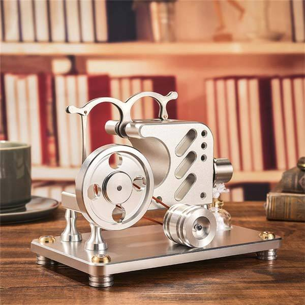 enginediy Stirling Engine with LED Hot Air Stirling Engine with Solid Metal Construction Education Toy Electricity Power Generator Motor Model ( T16-03 )
