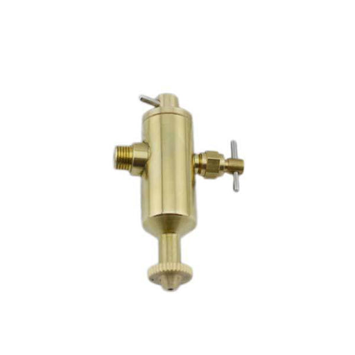 enginediy Steam Engine Live Steam Engine Displacement Lubricator with Valve 1/4 x 40TPI Thread