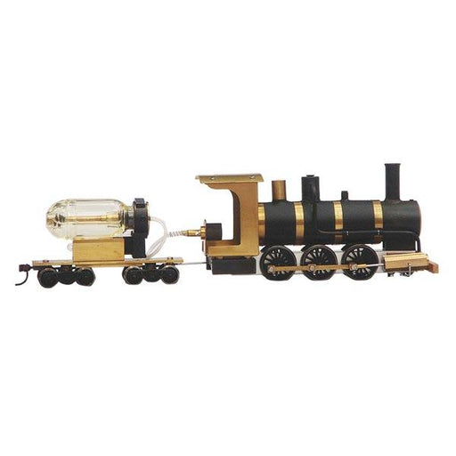 enginediy Steam Engine Live Steam Locomotive Model Train Engine 1:87 Ho Scale with Steam Engine Boiler Fuel Tank Track