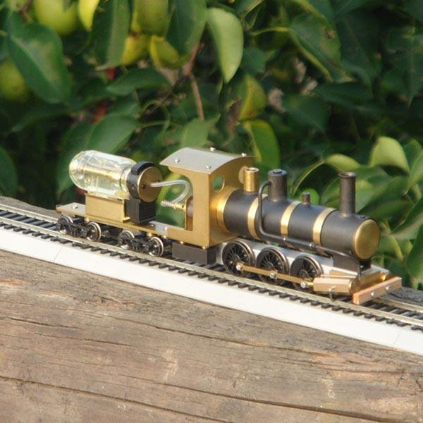 enginediy Steam Engine 1:87 Ho Scale Live Steam Locomotive Model Train Engine with Steam Engine Boiler Fuel Tank ( No Track)