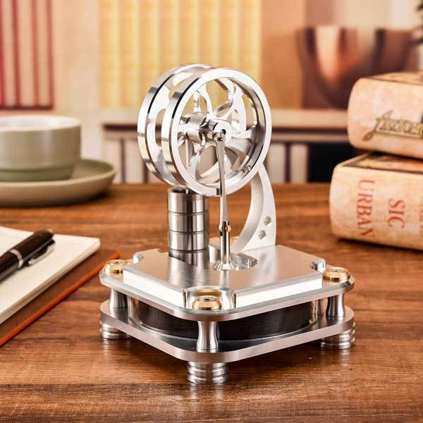 enginediy Low Temperature Stirling Engine Low Temperature Stirling Engine Stainless Steel Engine Model Toy for Developing Intelligence