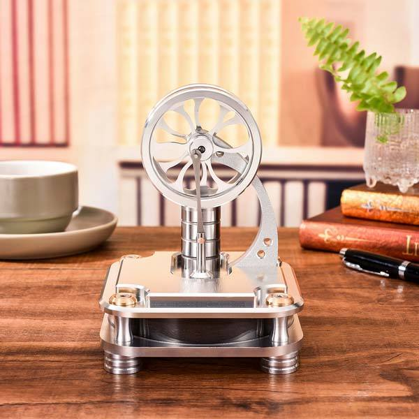 Stainless Steel Low Temperature Stirling engine for Developing Intelligence - Enginediy