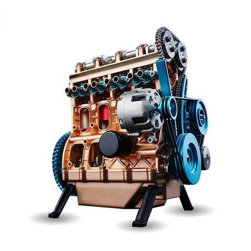 ENGINEDIY Teching V4  Four-Cylinder Engine Kit | Stirling Engine Model Full Aluminum Alloy Collection - enginediy