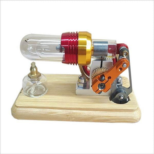 enginediy Single Cylinder Stirling Engine Mini Hot Air Stirling Engine Motor Model External Combustion Engine Educational Toy Kit
