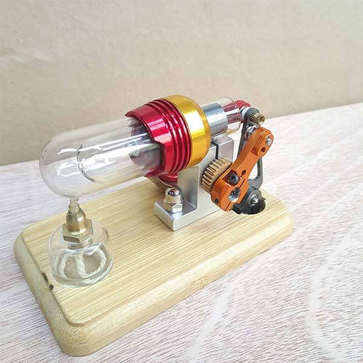 Mini Hot Air Stirling Engine Motor Model External Combustion Engine Educational Toy Kit - enginediy