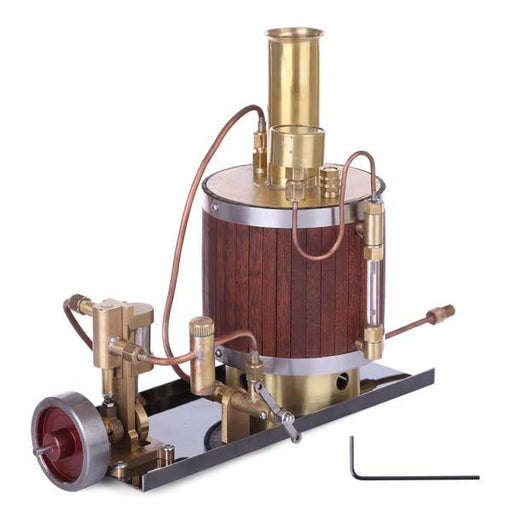 enginediy Steam Engine Mini Steam Engine Model Kit  Set with Steam Engine Boiler and Base - Enginediy
